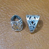 Sterling Silver Pendant Bail With Ornate  - BL014