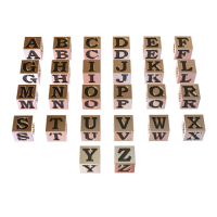 Sterling Silver Alphabet Letter Cube Beads 5x5mm - LB5050