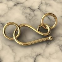Sterling Silver Hook Clasps 13x8mm - C3179