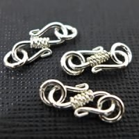 Sterling Silver S Clasps Coiled Wire