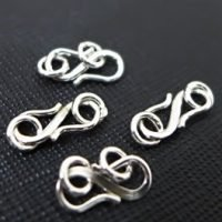 Sterling Silver S Clasps 13mm - C3208