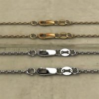 Sterling Silver Oval Cable Chain with Lobster Clasp 2.8×3.3mm