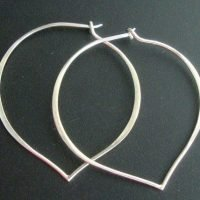 Sterling Silver Heart Earrings Hoop