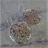 (One Pair) Sterling Silver Round Earring – ER8006101