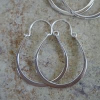 Sterling Silver Earrings Hoop 31x24mm – ER8076
