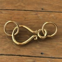 Sterling Silver Hook Clasps 13x8mm - C3182