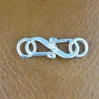 Sterling Silver Clasps L: 17.3mm - C3211