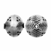 Sterling Silver Fancy Small Beads  10x10.5mm - B1014