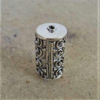 Sterling Silver Ornate Tube Beads  21x11.50 mm - B1098