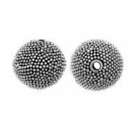 Sterling Silver Fancy Round Beads  11.6x11.8mm - B1108