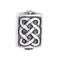 Sterling Silver special shape Stamped Beads  12.5x5.5mm - B1124
