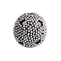 Sterling Silver Fancy Round Beads  11x11.5mm - B1171