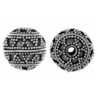 Sterling Silver Fancy Round Beads  11x12mm - B1292