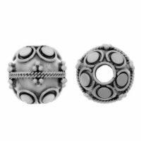 Sterling Silver Fancy Round Beads  11x11mm - B1461