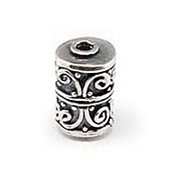 Sterling Silver Fancy Tube Beads  10.3x 7mm - B1543