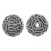 Sterling Silver Fancy Round Beads  10x10mm - B1562
