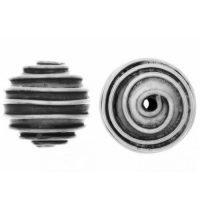 Sterling Silver Fancy Small Beads  10.6x12mm - B1573