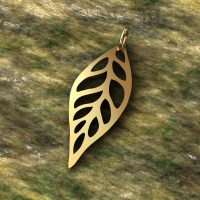Sterling Silver Charms  Leaf Outline 24x 9.5 mm - CH010