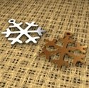 Sterling Silver snowflake charm - CH019