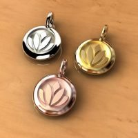 Sterling Silver Lotus Charm CH037