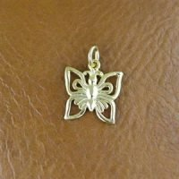 Sterling Silver Butterfly Charm 12x11mm - CH080