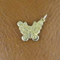 CH085- Sterling Silver Butterfly Charm 14.4x12.6mm - CH085