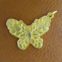Sterling Silver Butterfly Charm 24.5x18mm - CH087