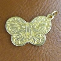 Sterling Silver Butterfly Charm 25.8x21.6mm - CH088