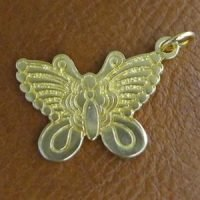 Sterling Silver Butterfly Charm 25.1x19.5mm - CH089