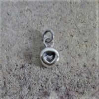 Sterling Silver Heart Charm - CH104