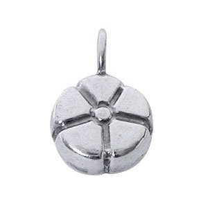 Sterling Silver  flower Charms  6.3 x 9.8 mm - DG058