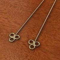 Sterling Silver  Eye Pins  22 Gauge, Length 72mm, Head 6.4mm - H7024