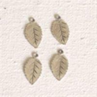 Sterling Silver Tiny Leaf Charm - LFT008