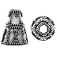 Sterling Silver Cones 14.3x11.8mm - R108