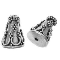 Sterling Silver Cone Bead 11.8x9.5mm - R127