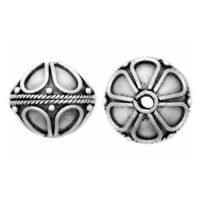 Sterling Silver Fancy Round Beads  11x12.5mm - B1103