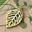 Sterling Silver Charms  Leaf Outline 24.5 x14.7mm - CH058