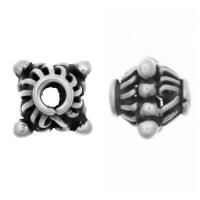 Sterling Silver Barrel Small Beads  8x7.2mm - S5117